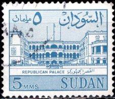 1962 Republican Palace - 5m - Blue FU - Sudan (1954-...)