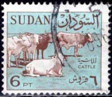 1962 Cattle - 6p - Brown And Blue FU - Sudan (1954-...)