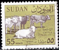 1962 Cattle - 55m - Black And Green FU - Sudan (1954-...)