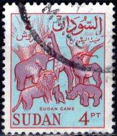 1962 Wild Game - 4p - Mauve, Red And Blue  FU - Sudan (1954-...)