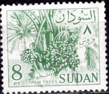 1962 Date Palms - 8p - Green FU - Sudan (1954-...)