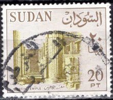1962 Bohein Temple - 20p - Green And Bronze FU SOME PAPER ATTACHED - Sudan (1954-...)