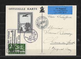 FLUGPOST → 1926 Off. Karte Int. Ausstellung In Basel, Flugpost Basel-Schaffhausen Mit Vignette - Luchtpostzegels