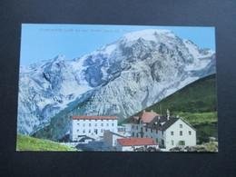 Österreich Um 1910 Post Alpen Hotel Josef Peer. Stifserjoch. Franzenshöhe. (2188m)  Joh. F. Amonn - Hotels & Gaststätten