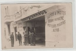 """1 Carte Photo à Identifier ?? """" Marine Garage , Moteur Altos Les Lillas 1920 1931 , Constructeur A.Bonnet """" - A Identifier"""