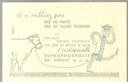 Buvard Superphosphate De Chaux 16 Ou 18 De Couleur Ocre - Agriculture