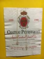 6954 - Château Peyrouquet 1988 Saint Emilion - Bordeaux