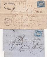 380 - LSC - CERES 60 - DEUX LETTRES DIVERSES - Postmark Collection (Covers)