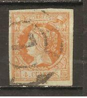 España/Spain-(usado) - Edifil  52-RC-7 (Sevilla) - Yvert  48 (o) - 1850-68 Kingdom: Isabella II