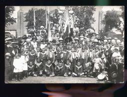 A SITUER ENFANTS AUX DRAPEAUX AMERICAINS    1910 CP PHOTO             DDD - A Identifier