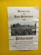 6957 - Domaine Du Haut-Pécharmant 1982 - Bergerac