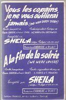 Partitions Editions Chappel De 1959 Bleu, Blanc, Blond Créée Et Enregistrée Par Marcel Amont - Partitions Musicales Anciennes