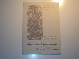 ITALIA ATTESTATO DI FREQUENZA RILASCIATO DAL C.R.D.A. DI MONFALCONE GORIZIA 1959 BELLA INCISIONE DI MARANGONI - Documents Historiques