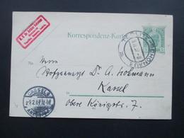 Österreich 1907 Ganzsache Von Teplitz - Schönau 1 Nach Kassel. M.U. Dr. Arthur Scheuer Zahnarzt. Böhmen - 1850-1918 Imperium