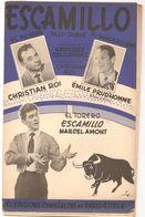 Partitions Editions Chantaline Et Paris Etoile ELTORERO ESCAMILLON Marcel Amont De 1956 Par Marcel Amont - Partitions Musicales Anciennes