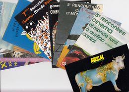 LOT 9 CPM NEUVES RENCONTRES CINEMA ET MONDE RURAL CANTAL AURILLAC - 82 à 87 -93-96 + 1995 AVEC PROGRAMME /1 - Aurillac