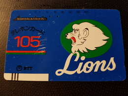 Balkenkarte / Barcode Card From Japan / Nippon / Japonese  - 50 U. Lions - Japan