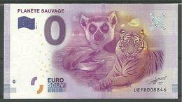 Billet Touristique 0 Euro  2016  Planète Sauvage - EURO