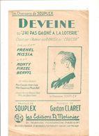 Partitions Editions A. Molinier Non Datée Les Chansons De Souplex DEVEINE - Partitions Musicales Anciennes