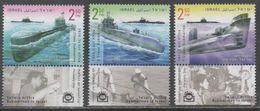 ISRAEL, 2017, MNH, SUBMARINES , 3v+ TAB - Submarines