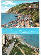 Italy - 2 Cards - Gabicce Mare - Spiaggia - Lungomare - Old Views - Italia