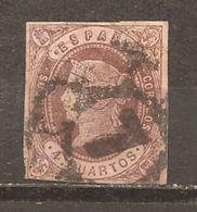 España/Spain-(usado) - Edifil  58-RC-7 (Sevilla) - Yvert  54 (o) - 1850-68 Kingdom: Isabella II