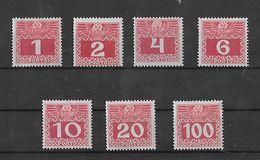1909 Porto Dünnes Papier Y ** - Portomarken