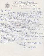 Lettre Autographiée Du Dr Mel B. Yoken,  Adressée Au Colonel REMY - Autographes