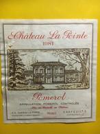 6976 - Château La Pointe 1981 Pomerol état Moyen - Bordeaux