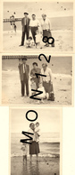 TROUVILLE SUR MER - 3 PHOTOS DE FAMILLE 1963 - PLAGE JETEE (les Taches Sont Dans La Photo) - DIM 12,5x9 Cms - Lieux