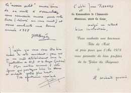 Carte Autographiée De Jean Renard,  Adressée Au Colonel REMY - Autographes