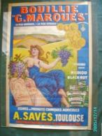 LITHO  AFFICHE ANCIENNE Femme ** BOUILLIE  MARQUES Signée Charles TICHON (1900) - 80 X 120 Cm  VIGNE RAISIN  Saves - Affiches