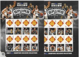 China (2007) - 2 MS - #19 / NBA Champions - San Antonio Spurs -  Basketball - Duncan - Parker - Ginobili - Finley - Basketbal