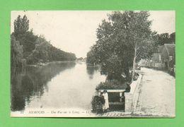 CPA FRANCE 77  ~  NEMOURS  ~  37  Une Vue Sur Le Loing  ( LL 1916 )  2 Scans  Animée - Nemours