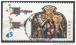 "Canada 1997 Sc. 1669 ""Nostra Signora Del Rosario"" Stained Glass Windows Natale Christmas Used - Vetri & Vetrate"