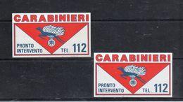 CARABINIERI - Pronto Intervento  Tel. 112 - - Stickers