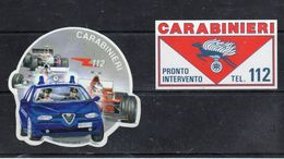 CARABINIERI - Pronto Intervento  Tel. 112 - Terra - - Stickers