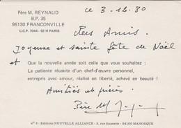 Carte Autographiée Du Révérend Père Jean Reynaud, Adressée Au Colonel REMY - Autographs
