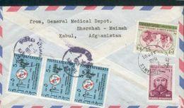AFGHANISTAN LETTRE 2/11/1969 BALE SUISSE TB BEL AFFRANCHISSEMENT AU VERSO - Afghanistan