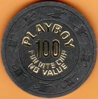 $100 Casino Chip. Playboy, Atlantic City, NJ. NCV 1981. K53. - Casino
