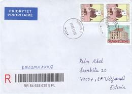 "GOOD POLAND "" REGISTERED ""  Postal Cover To ESTONIA 2013 - Good Stamped: Zodiak ; Architecture - 1944-.... Republic"