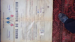 60- BEAUVAIS- AIRION- RARE AFFICHE ORDRE REQUISITION MILITAIRE-CHEVAUX -MINISTERE GUERRE CLERMONT PLACE LIMOGES-1924 - Affiches