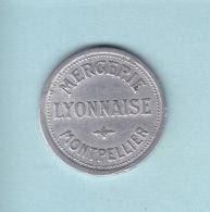 Monnaie Necessité Montpellier.. (34) Herault  .. 25c Mercerie Lyonnaise Aluminium - Monetary / Of Necessity