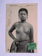 C.P.A. LAOS : SAO-DENG Buste, Seins Nus, Timbre En 1908 - Laos