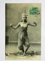 C.P.A. LAOS : La Plus Gracieuse Des Ballerines Laotiennes, Seins Nus, Timbre En 1908 - Laos