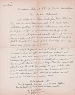 Lettre Autographiée De Victor-Alain Berto,  Adressée Au Colonel REMY - Autographs