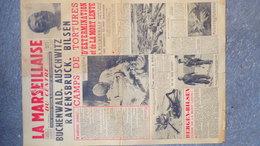 87-LIMOGES- LA MARSEILLAISE DU CENTRE MOUVEMENT LIBERATION NATIONALE-MLN-BUCHENWALD-AUSCHWITZ-RAVENSBRUCK-BILSEN-KRAMMER - Documents Historiques