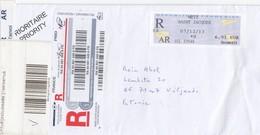 "GOOD FRANCE "" REGISTERED ""  Postal Cover To ESTONIA 2013 - Frankrijk"