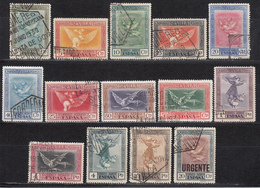 1930 CORREO AÉREO ,  EDIFIL Nº 517 / 530 , QUINTA DE GOYA EN LA EXPOSICIÓN DE SEVILLA. - 1889-1931 Kingdom: Alphonse XIII