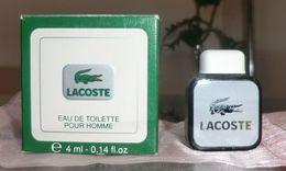 POUR HOMME - EDT 4 ML De LACOSTE - Miniatures Modernes (à Partir De 1961)